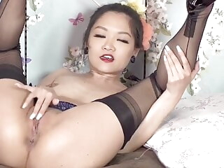 Free SpankBang asian stockings